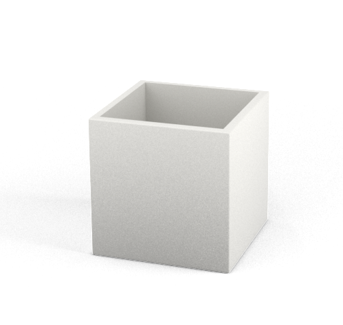 40x40x40 bialy e1585155812190 - Donica CUBO